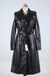 Płaszcz skórzany Sylwia - czarny